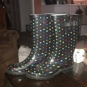 Target 🎯 Rubber Rain Boots Sz. 9 Like New!